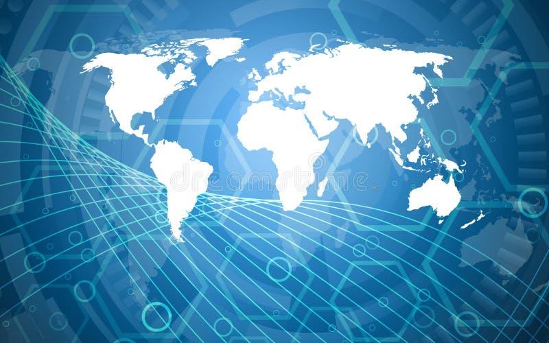 Planet earth informational stream. Vector illustration royalty free illustration