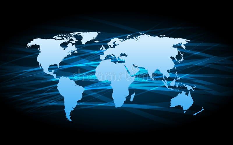 Planet earth informational stream. Vector illustration stock illustration