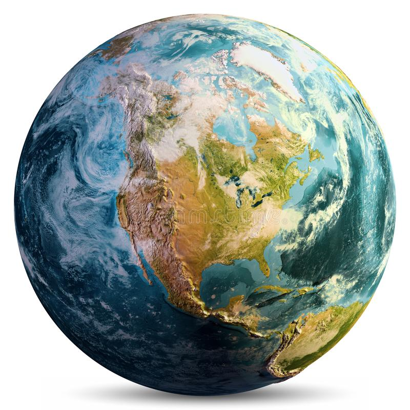 Planet Earth map. Elements of this image furnished by NASA. 3d rendering royalty free stock photos
