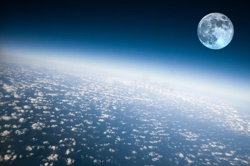 Download Planet Earth and Moon stock photo. Image of moon, curve - 15472936