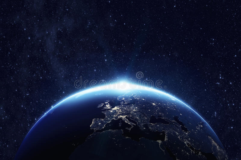 Planet earth at night royalty free stock images