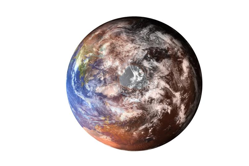 Planet Earth. North Pole view from top of solar system . Elements of this image furnished by NASA. stock image