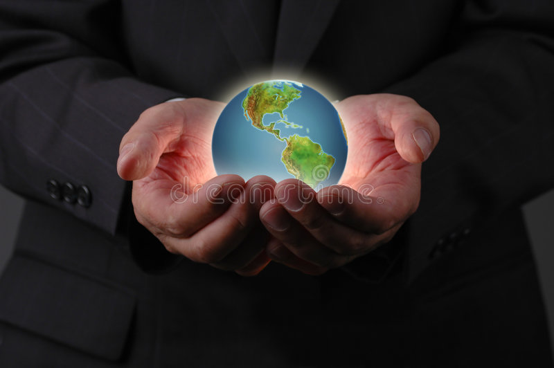 The planet earth is in our hands royalty free stock photo