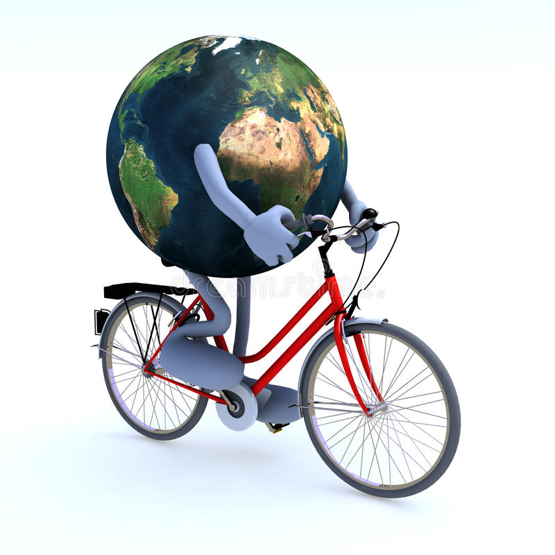 Download Planet Earth Riding A Bycicle Stock Illustration - Image: 28230413