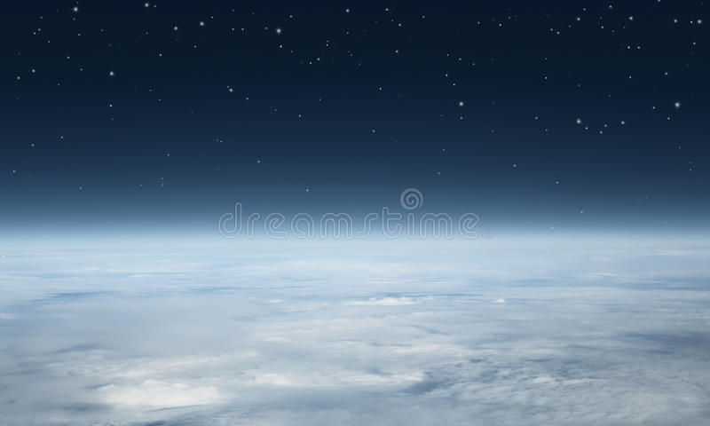 Planet earth seen from above. With copy space stock image