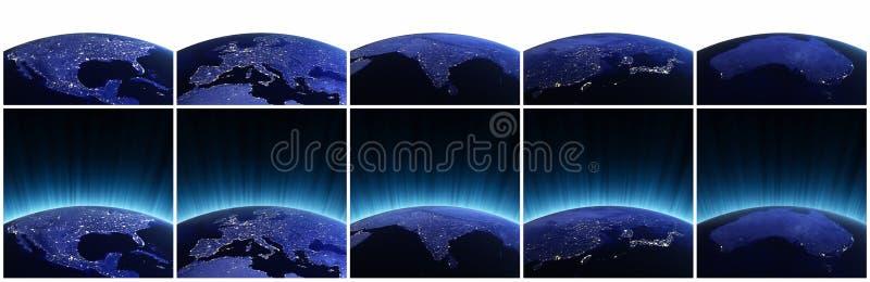 Planet earth set stock illustration
