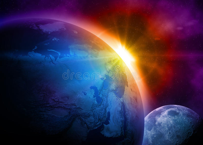 Planet earth in space royalty free illustration