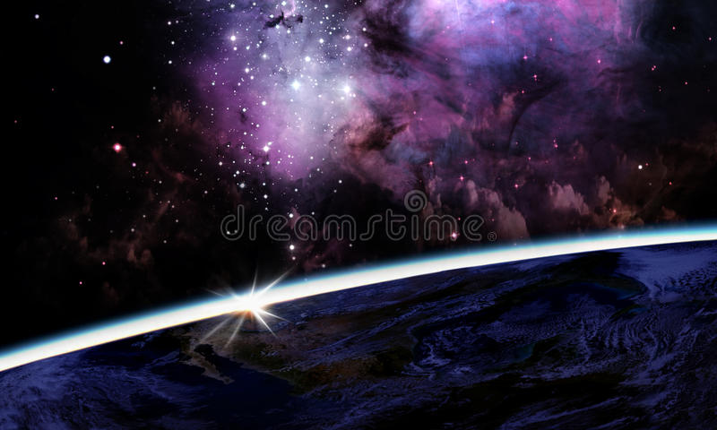 Planet earth on space background. Planet earth in the space. Elements of this image furnished by NASA royalty free stock photo