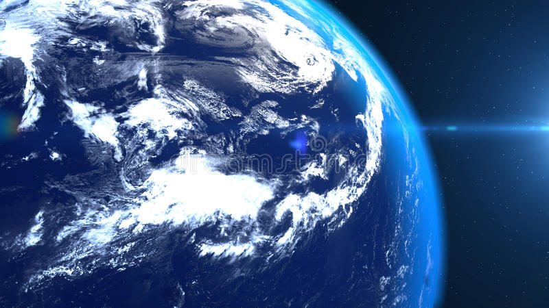 Planet earth from the space closeup vector illustration