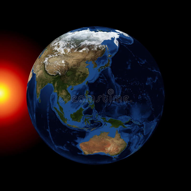 Download The planet earth stock illustration. Illustration of galaxy - 37492800