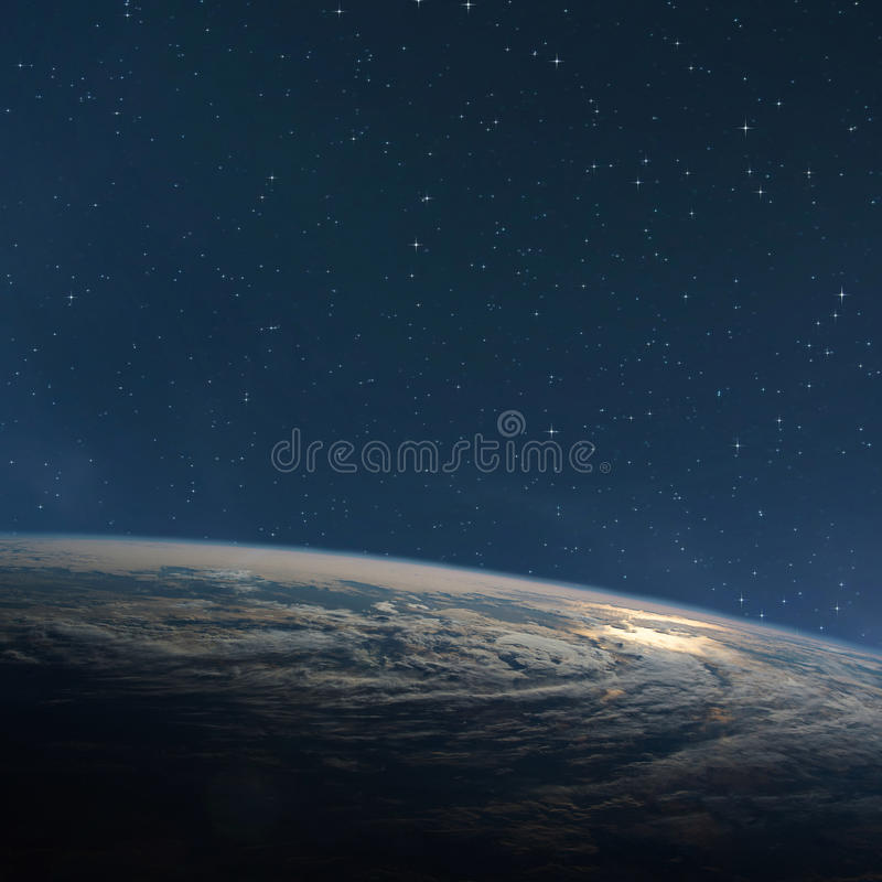 Planet earth from the space at night. Some elements of this image are furnished by NASA stock photos