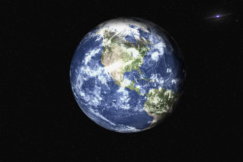 Planet earth in the space stock photos