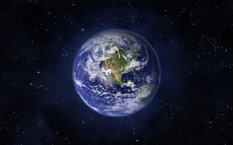 Planet Earth. Space and planet Earth. Western hemisphere. This image elements furnished by NASA