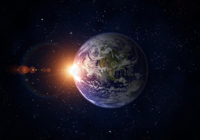 Planet Earth, Sun, Space. royalty free stock image