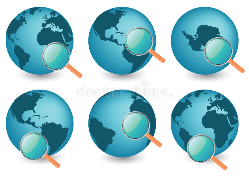 Download Planet Earth Under Magnifier Stock Vector - Illustration of image, brightly: 12459002