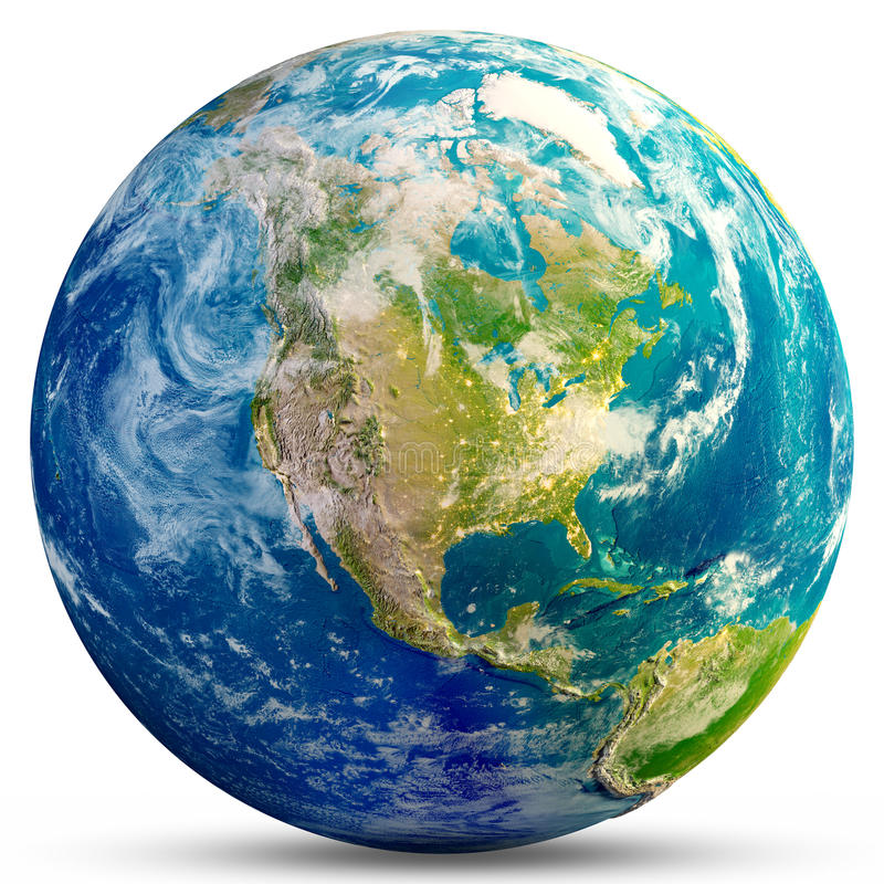 Free Planet Earth - USA Royalty Free Stock Image - 96380356