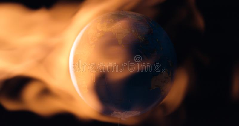 Planet Earth warming up concept royalty free stock photos