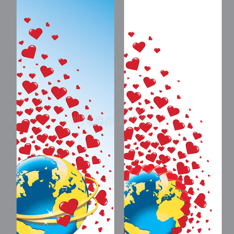 Download Planet Earth With Wedding Rings And Hearts.Vector Stock Vector - Image: 37420888
