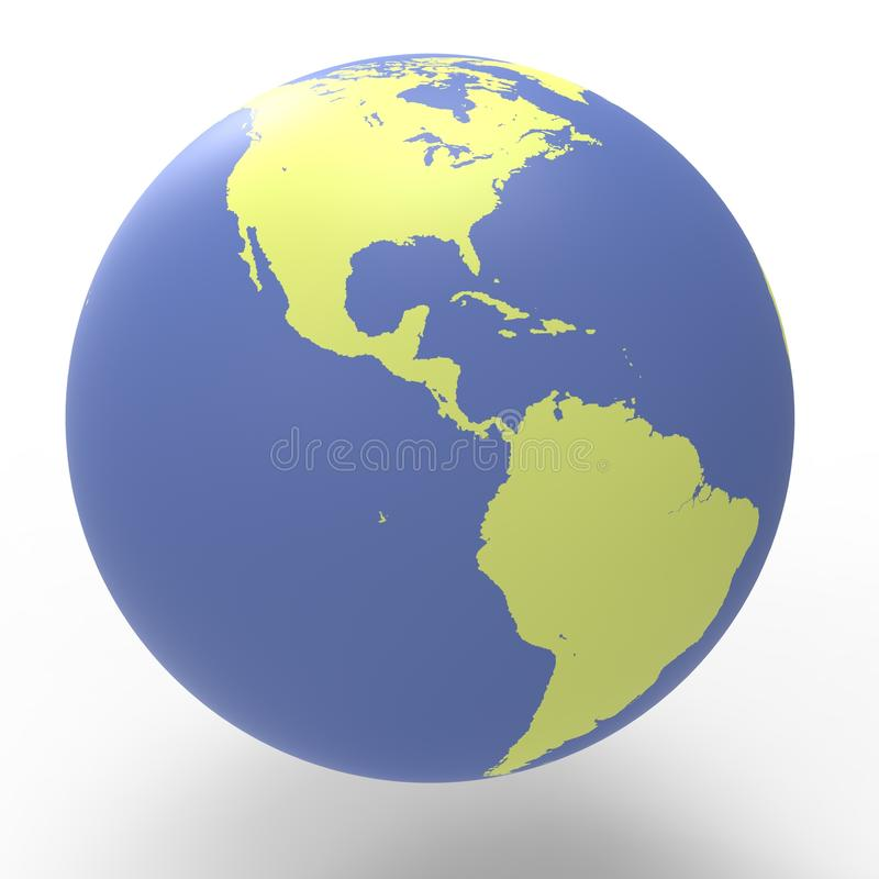 Planet Earth West Side Contrast royalty free stock images