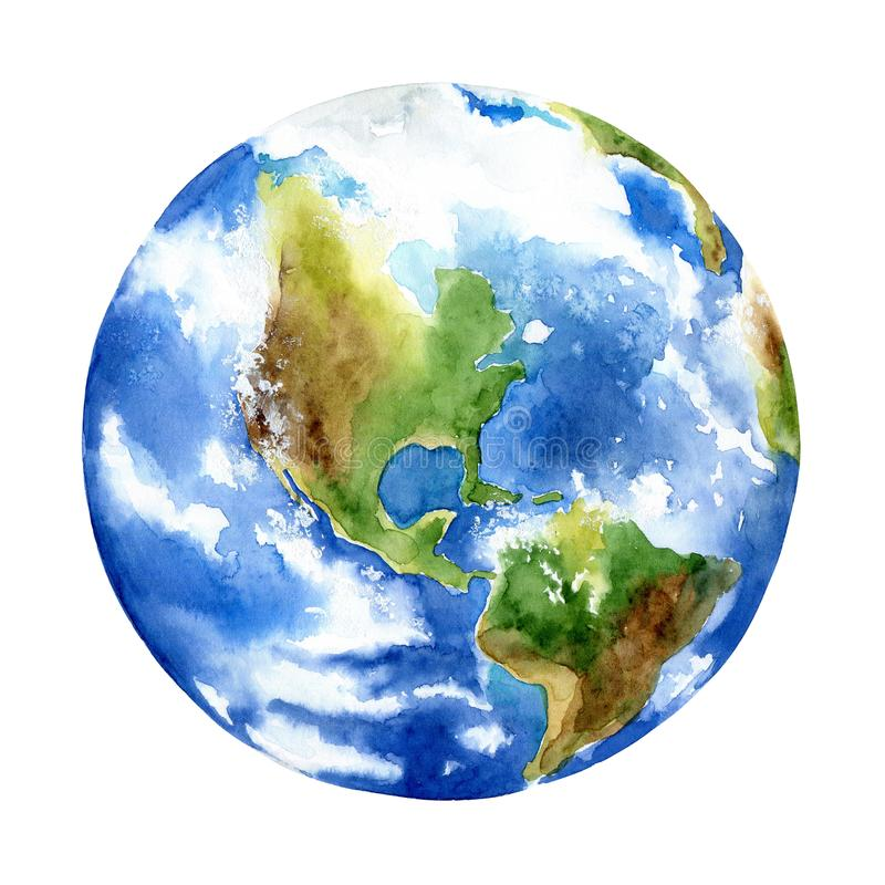 Planet earth on white background vector illustration
