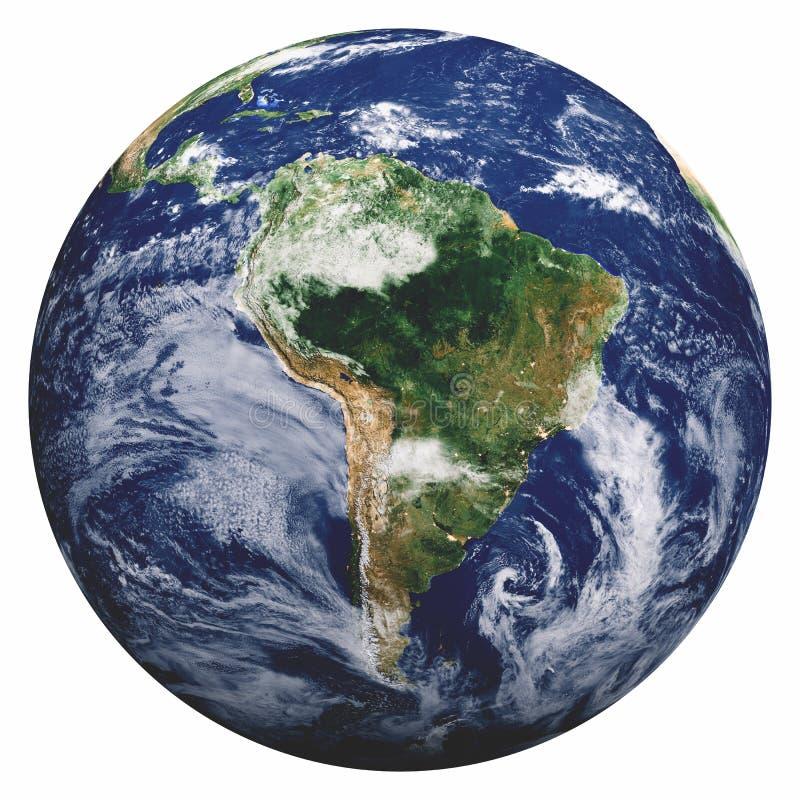 Planet Earth on white stock illustration