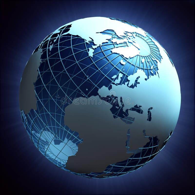 Planet Earth Wire-frame Design Stock Illustration - Illustration of ...
