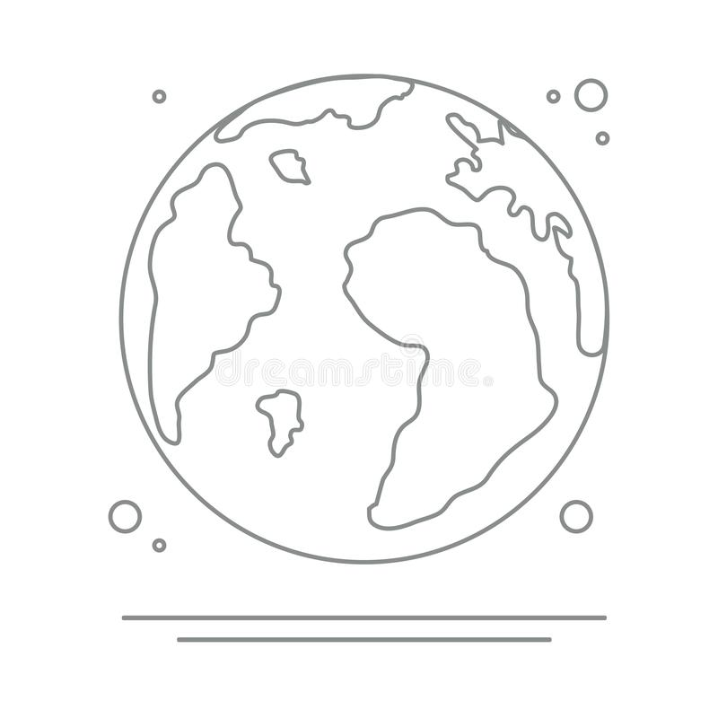 Planet Earth. World vector icon. Earth Day vector illustration