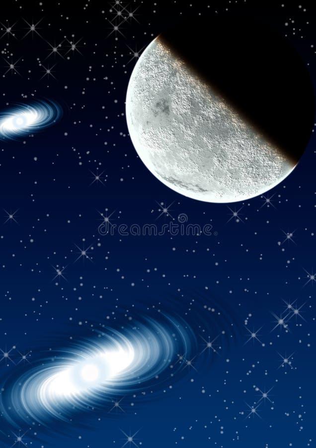 Planet in einem Platz. vektor abbildung