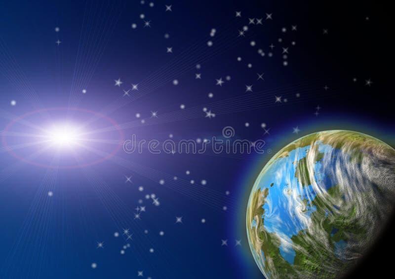 Planet in einem Platz. stock abbildung