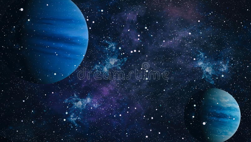 Planet - Elements of this Image Furnished by NASA. Stars and galaxies in outer space showing the beauty of space exploration. Elements furnished by NASA vector illustration