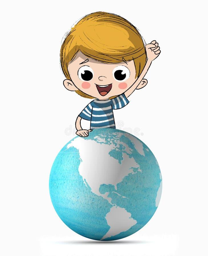 Planet för barn royaltyfri illustrationer
