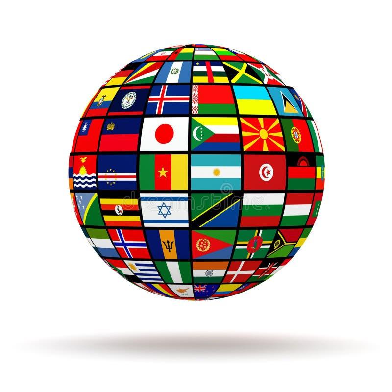 Planet flaga ilustracja wektor