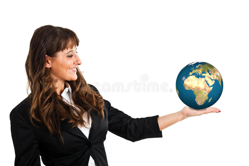 Download Planet in the hand stock illustration. Image of tourism - 23080724