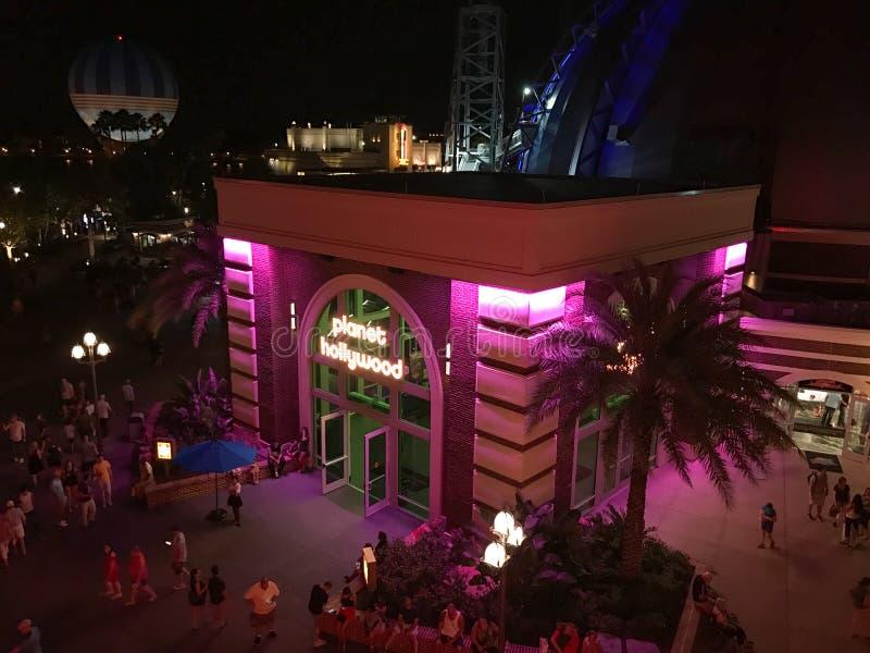 Planet Hollywood in Disney-de Lentes, Orlando, Florida wordt gevestigd dat stock afbeeldingen