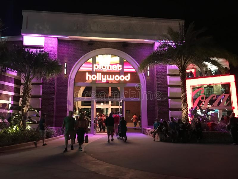 Planet Hollywood, Disney Springs, Orlando, FL. Planet Hollywood located in Disney Springs in Orlando, FL stock images