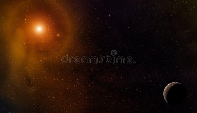 Planet i avståndet royaltyfria foton