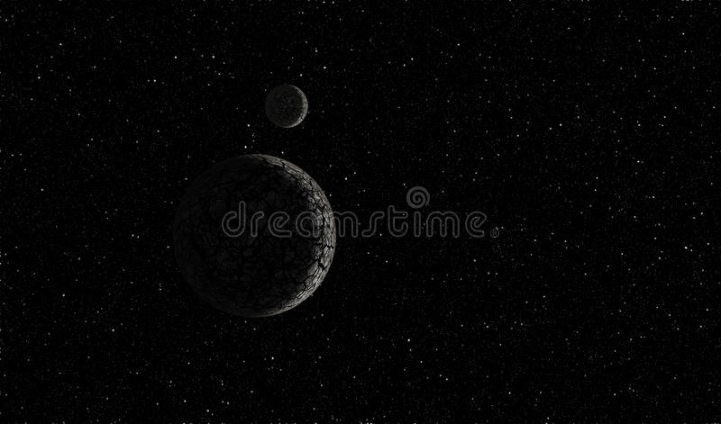 Planet i utrymme stock illustrationer