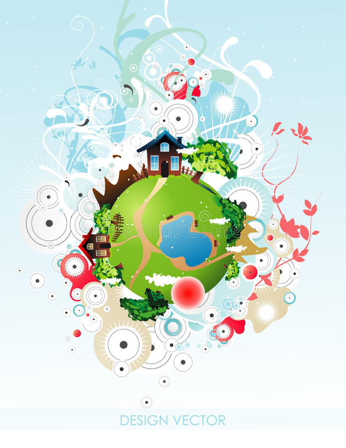 Planet Illustration Stock Photo