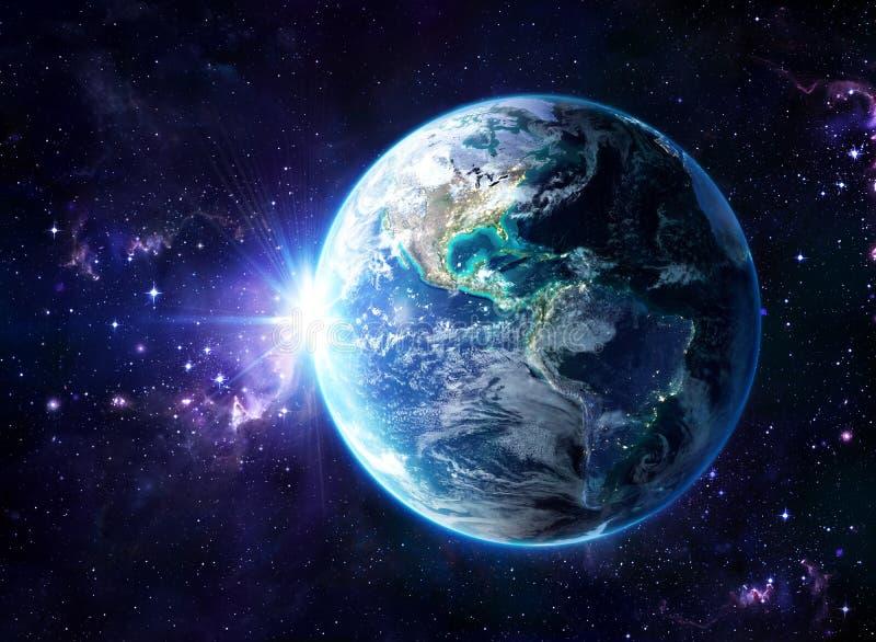 Planet im Kosmos - USA lizenzfreies stockfoto