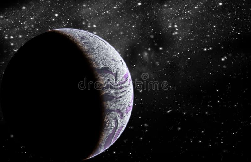 Planet im Platz stock abbildung
