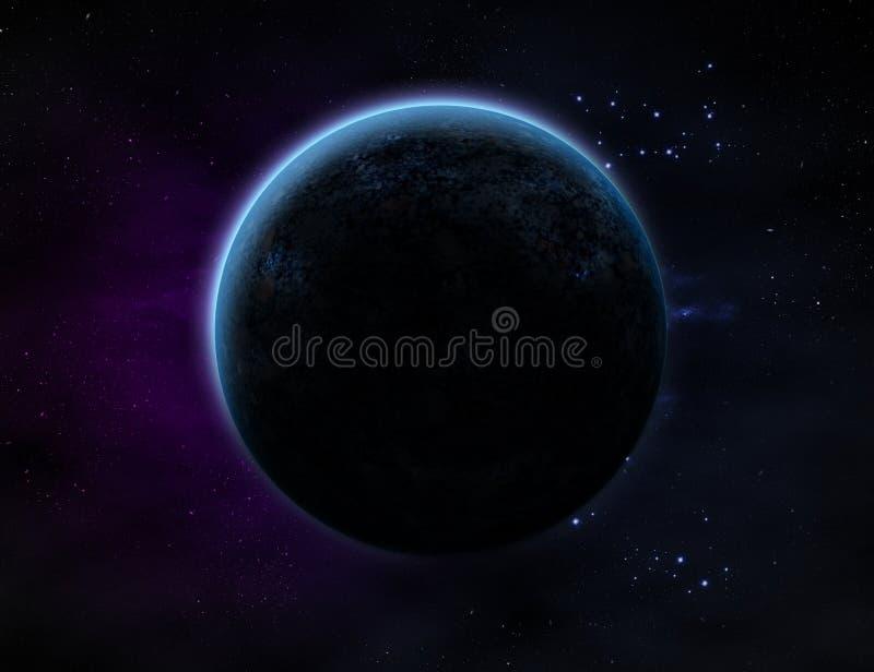Planet im Weltraum stock abbildung