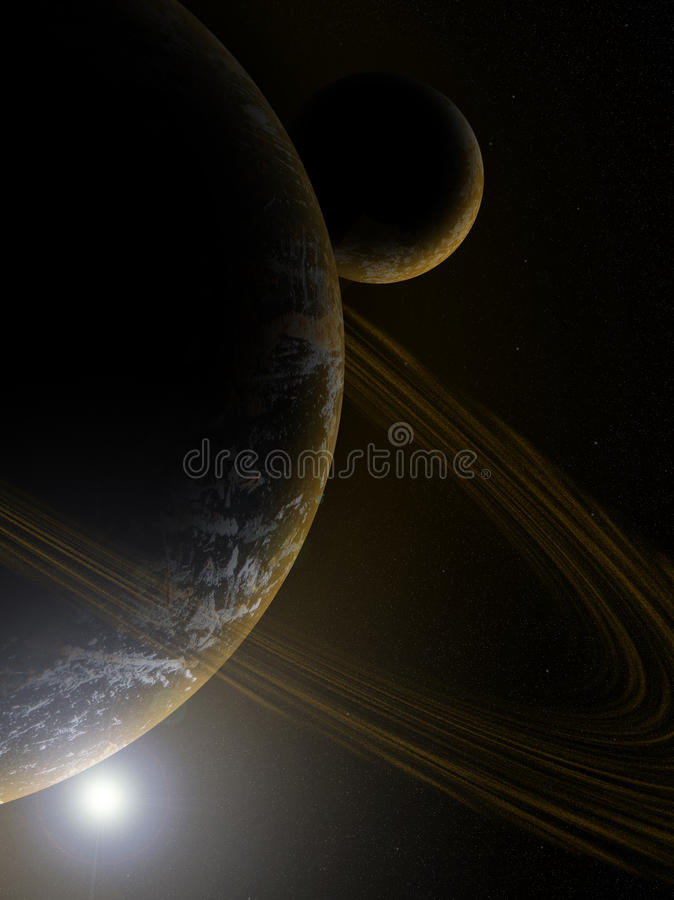 Free Planet In Deep Space Wallpaper Stock Photos - 91190333