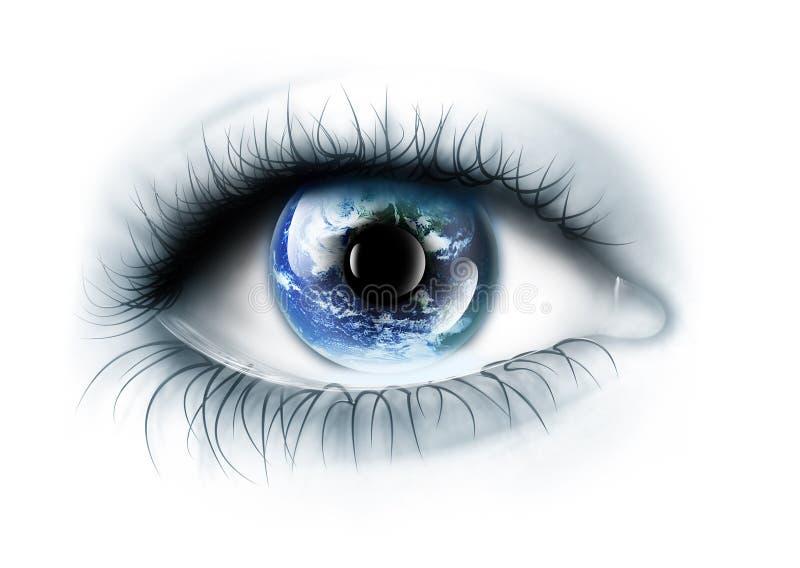 Planet ist im Auge vektor abbildung