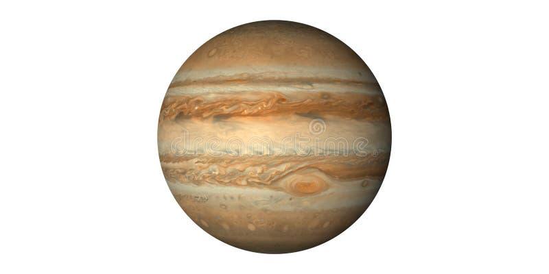 Planet jupiter i solsystemet som ses från utrymme royaltyfria foton