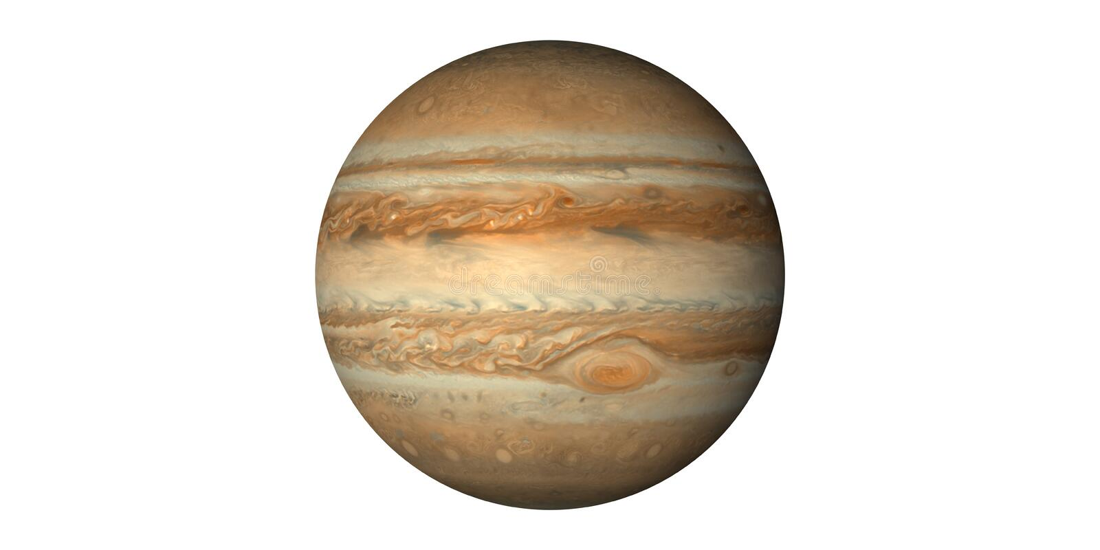 Planet jupiter in solar system seen from space royalty free stock photos
