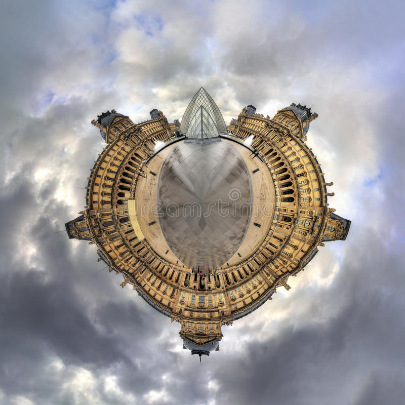 Planet Louvre stock images