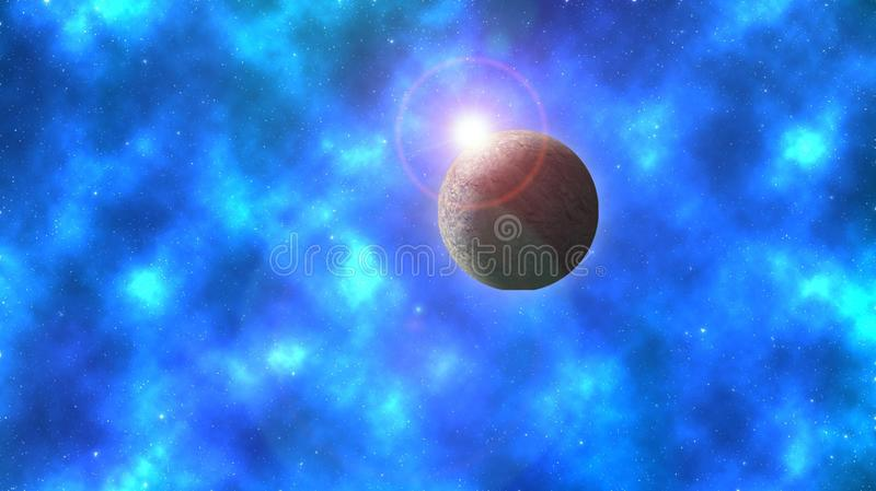 Planet. This manipulation was made all in Photoshop. I used a texture for the planet stock illustration