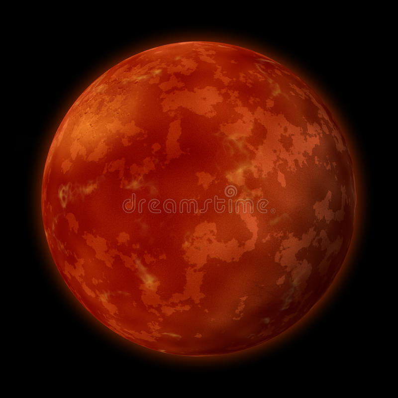 Planet Mars stock abbildung
