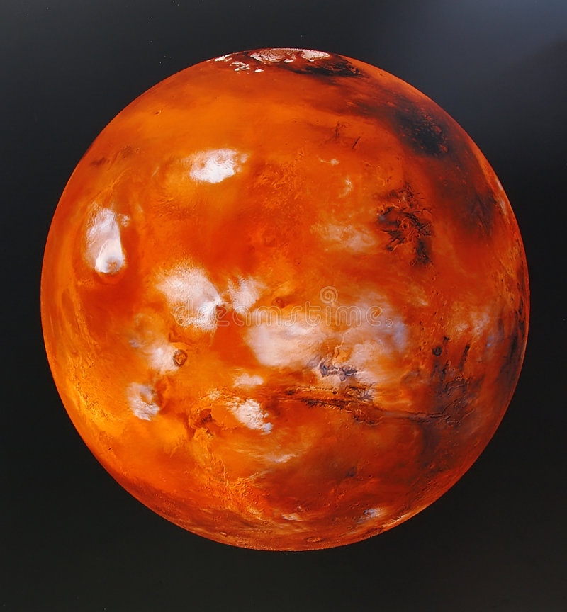 Planet mars. Painting of the red planet mars