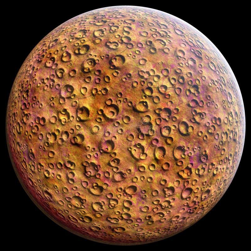 Planet Mars red stock illustration